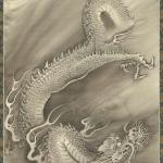 中林竹洞 雲龍図