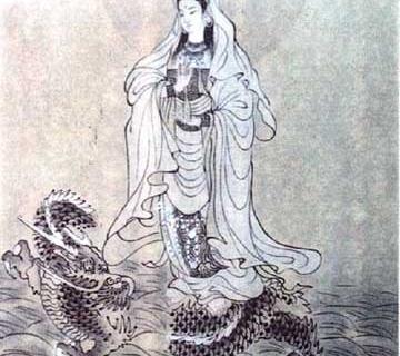 騎龍観音菩薩像