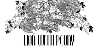 LION WITH PEONY