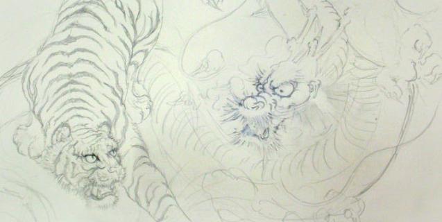 壁画と天井画