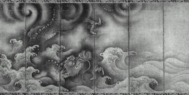 雲龍図屏風