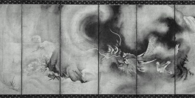 龍虎図屏風