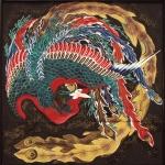 葛飾北斎 東町祭屋台「鳳凰」図