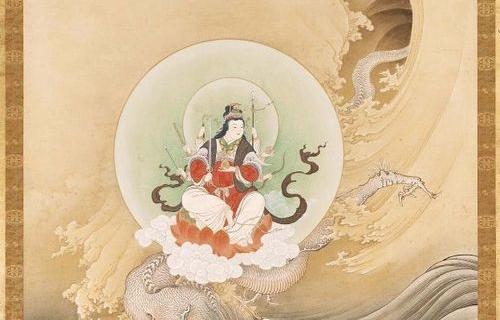 橋本雅邦 騎龍弁天図 1886年
