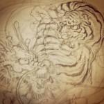 #虎 #tiger #龍 #dragon