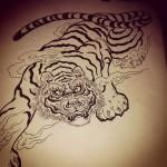 #tiger #tigertattoo #虎顔が気に入らない