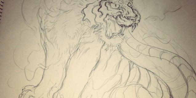 #tiger #tigertattoo #虎 #刺青 #下絵