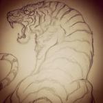 #tigertattoo #tiger #虎 #下絵