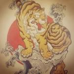 #tiger #tigertattoo #Japanesetattoo #tattoo #刺青 #和柄 #虎