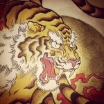 #tiger #tigertattoo #虎 #刺青 #牡丹