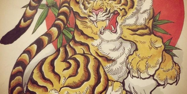 #tiger #tigertattoo #虎 #刺青