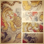 #tiger #tigertattoo #Japanesetattoo #tattoo #刺青 #和柄 #虎