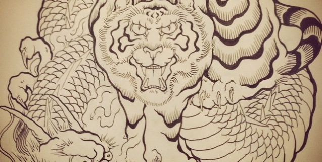 #tiger #dragon #tigertattoo #dragontattoo #tigeranddragon #Japanesetattoo #tattoo #刺青 #和柄 #虎 #龍 #龍虎
