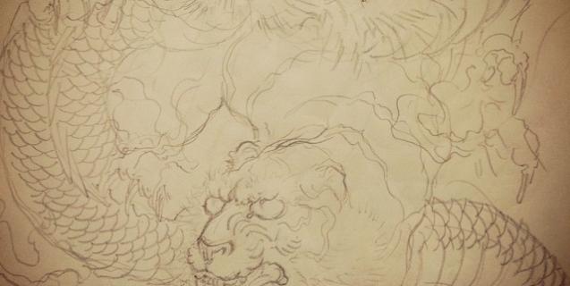 #tiger #dragon #tigertattoo #dragontattoo #tigeranddragon #Japanesetattoo #tattoo #刺青 #和柄 #虎 #龍 #龍虎