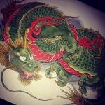 着色完了! #dragon #龍 #tatoo #刺青