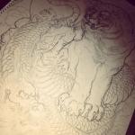 #龍 #dragon #虎 #tiger #下絵