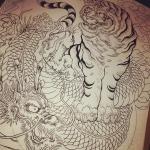 #tiger #虎 #dragon #龍 #tatoo #刺青 #牡丹