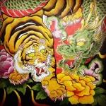 彩色完了!#虎 #tiger #龍 #dragon #刺青 #tattoo #tattooart