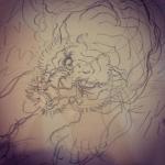 次は虎。笹の描き方が課題だなぁ#irezumi #tattoo #下絵 #虎 #tiger