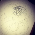 虎でもう一つ。#虎 #tiger #刺青 #tattoo #irezumi #下絵