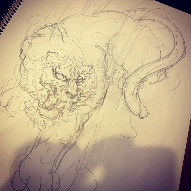 #下絵 #刺青 #irezumi #虎 #tiger