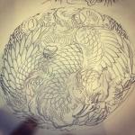 #鳳凰 #japanesephoenix #刺青 #irezumi #tattoo