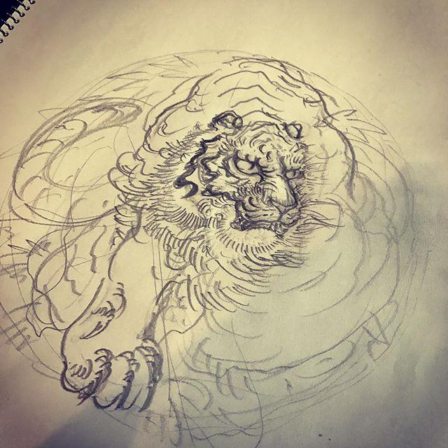 #tiger #虎 #刺青 #irezumi #素材