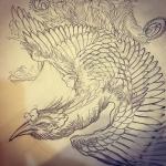 #刺青 #irezumi #下絵 #tattoo #鳳凰#japanesephoenix #chinesephoenix