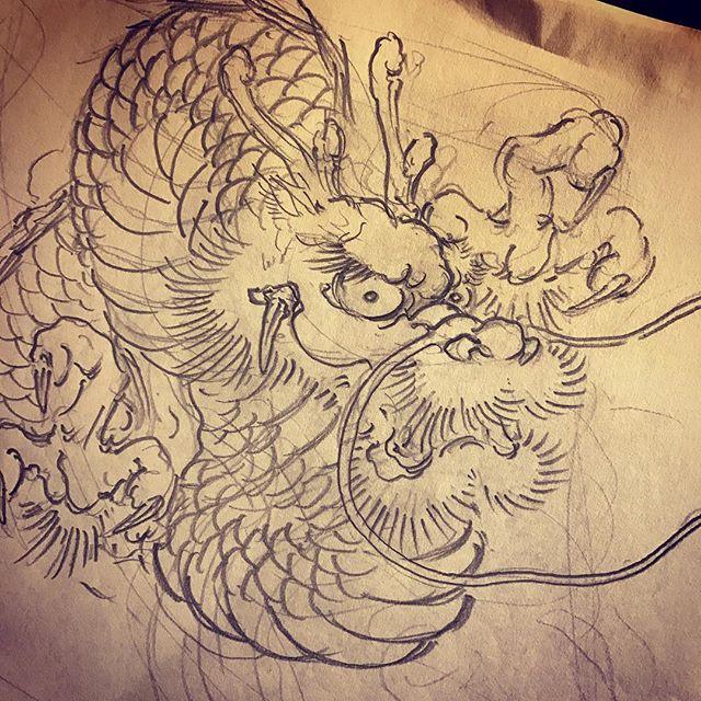 素材用#龍 #dragon #刺青 #irezumi #tattoo