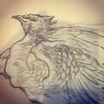 鳳凰も開始。#tattoo #irezumi #下絵 #刺青 #鳳凰 #japanesephoenix