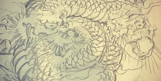 #和彫り #刺青 #龍 #dragon #irezumi #japanesedragon