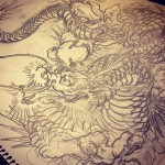 とりあえず下絵として。#下絵 #刺青 #下絵 #龍 #dragon
