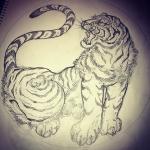 #虎 #tiger #tigertattoo #刺青 #irezumi