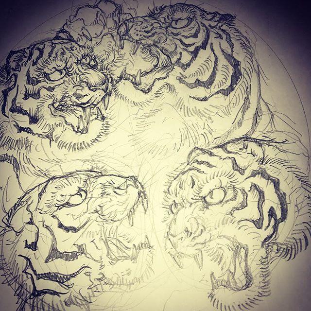 虎、虎、虎、虎#虎 #tiger #tigertattoo #刺青 #irezumi