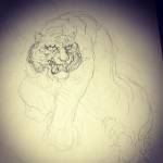 虎描き始め#虎 #tiger #tattoo #irezumi #刺青#下絵