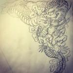 龍の素材用#龍 #dragon #下絵 #素材 #刺青 #irezumi