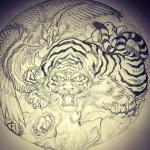 #虎 #tiger #鳳凰 #japanesephoenix #刺青 #irezumi #tigertattoo #phoenix