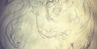 円形の虎モチーフ#虎 #tiger #刺青 #irezumi #tigertattoo #素材