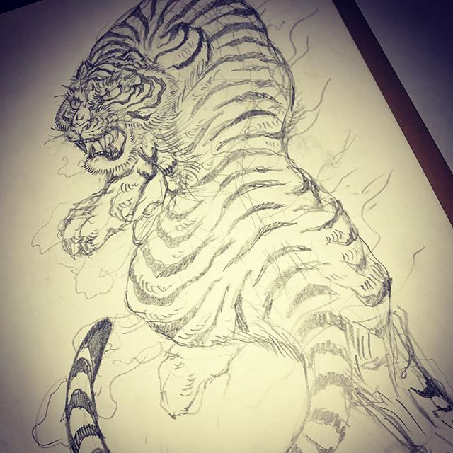 #虎 #tiger #刺青 #irezumi #tigertattoo