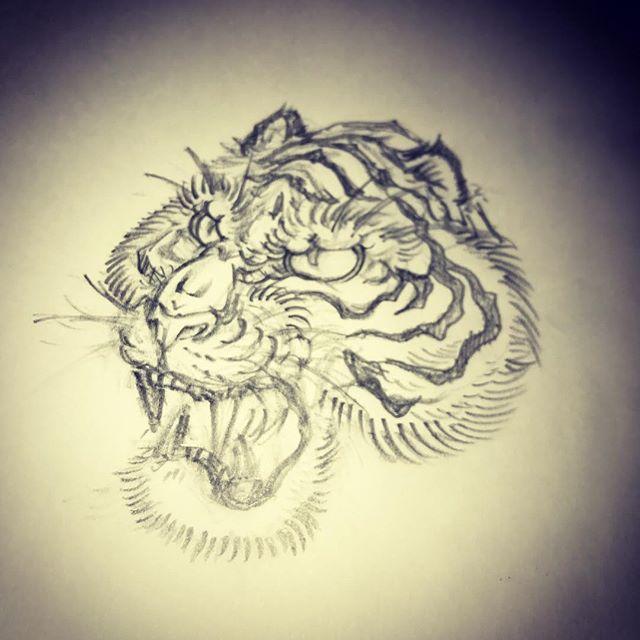 虎の要は眉間かな#虎 #tiger #刺青 #irezumi #tigertattoo