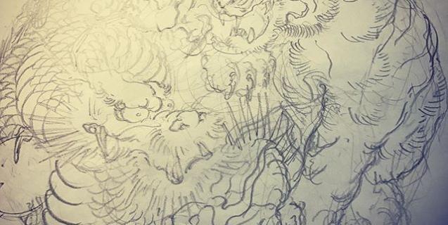 #龍 #dragon #虎 #tiger #刺青 #irezumi #dragontattoo #tigertattoo