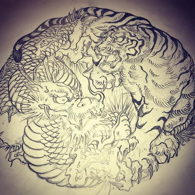 #龍 #dragon #虎 #tiger #dragontattoo #tigertattoo #刺青 #irezumi