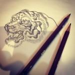 手描きからベクターへの変換が課題。#tiger #虎 #irezumi #刺青 #tigertattoo