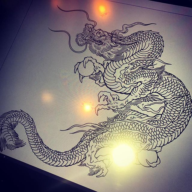 #dragon #龍 #tattoo #illustrator さて、どうしよう。。