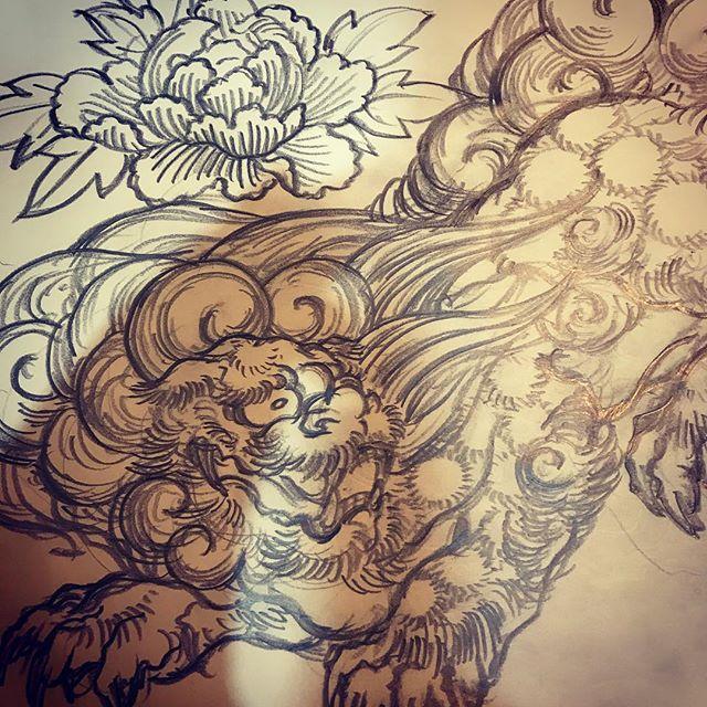 #唐獅子 #lion #japaneselion #和柄 #japanesetraditional