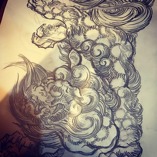 #唐獅子 #karajishi #lion #japaneselion #和柄 #japanesetraditional #刺繍 #tattoo