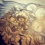 #唐獅子 #karajishi #lion #japaneselion #和柄 #japanesetraditional
