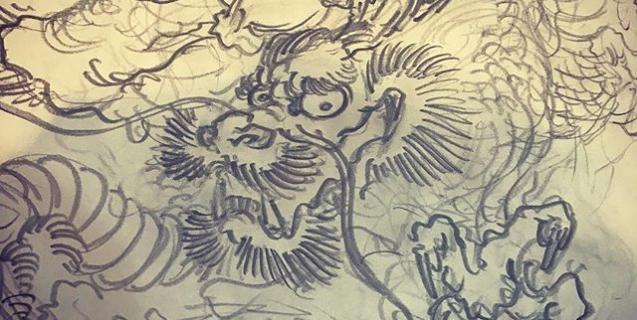 久しぶりの龍。#龍 #dragon #japanesedragon #和柄 #japanesetraditional #和風 #japanesestyle #刺繍 #embroidery #tattoo #刺青
