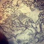 変わった構図。#唐獅子 #karajishi #lion #japaneselion #和柄 #japanesetraditional #和風 #japanesestyle #刺繍 #embroidery #tattoo #刺青