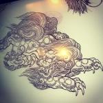こんな感じで。#phoenix #japanesephoenix #鳳凰 #dragon#tigeranddragon #龍 #龍虎#竜 #竜虎 #tiger #虎 #唐獅子 #karajishi #lion #japaneselion #和柄#japanesetraditional #和風 #japanesestyle #刺繍#embroidery #tattoo #刺青